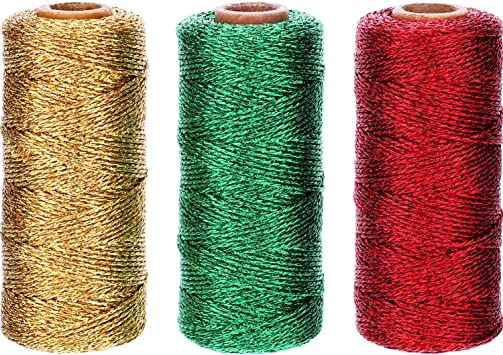 6 Roll 164 Feet Cotton Bakers Twine String 2 mm Colourful Twine Cotton Cord Rope for Gift Wrapping DIY Arts Crafts Party Decorations