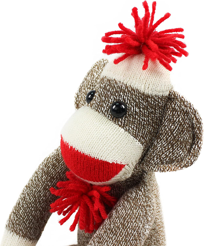 Swirly pompom CHARCOAL Sock Monkey