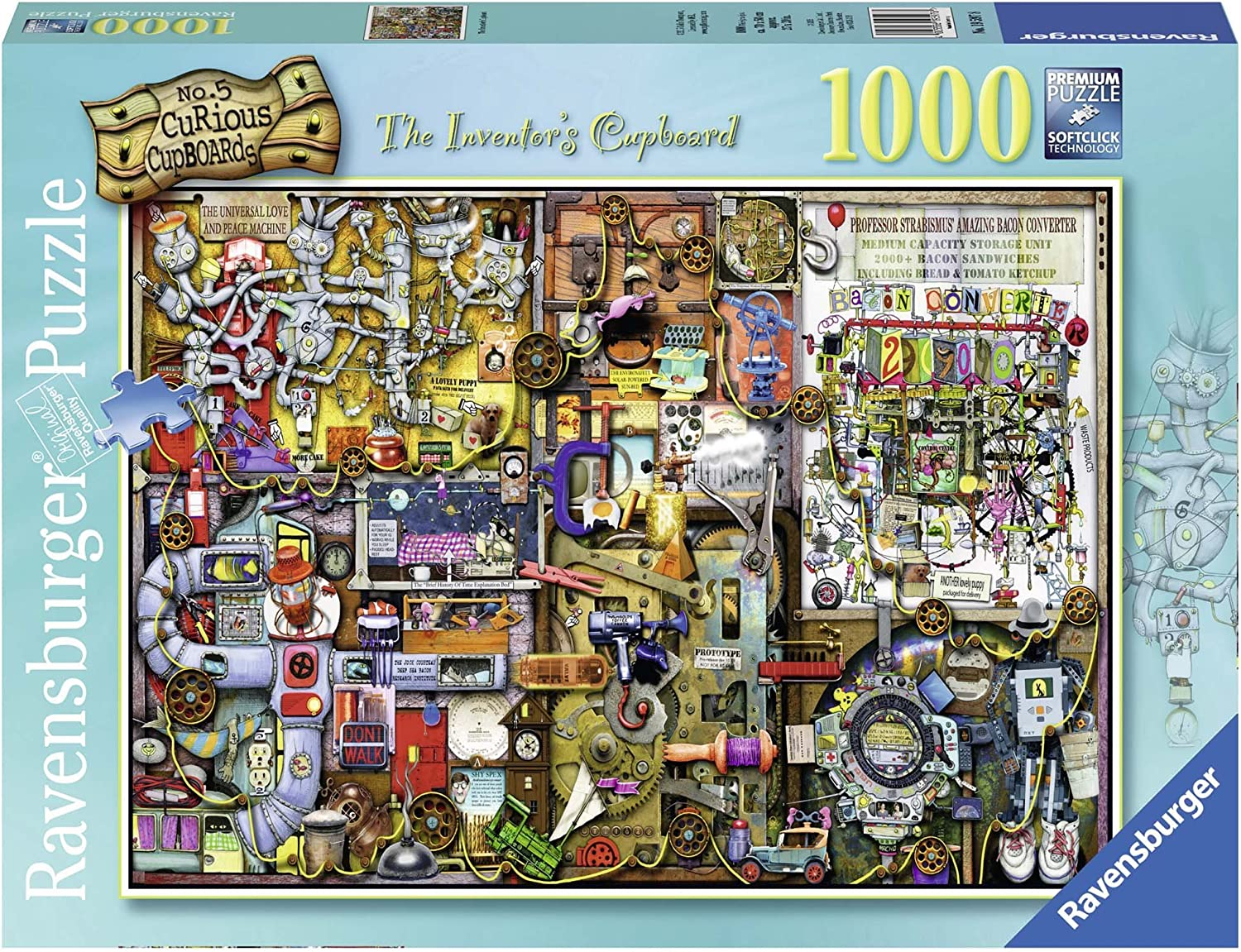 Ravensburger Colin Thompson - The Inventor's Cupboard, Rompecabezas de 1000 Piezas, 70 x 50 cm 195978