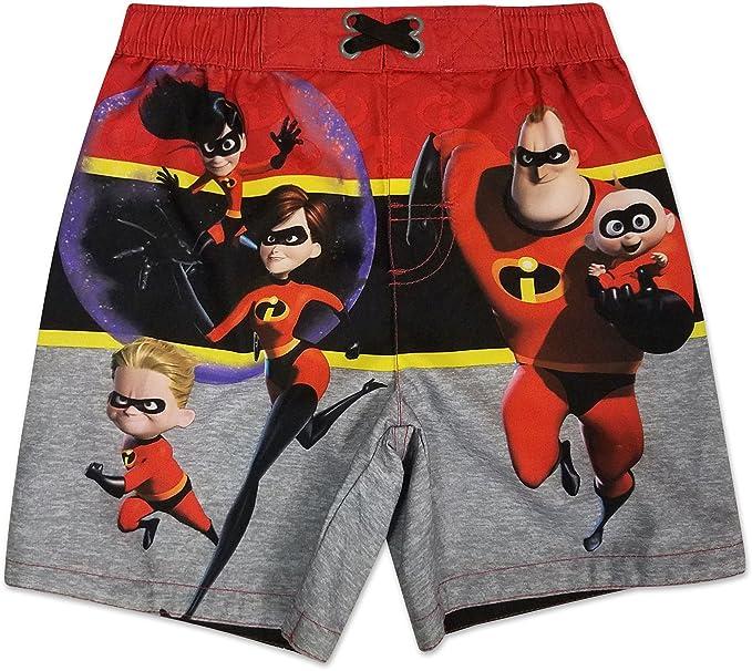 c2b4bd75eff1a Disney The Incredibles Toddler Boys' Swim Trunks, Red (4T): Amazon ...