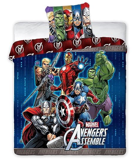 Copripiumino Avengers.Marvel Avengers Assemble Double Panel Duvet Cover Amazon Co Uk
