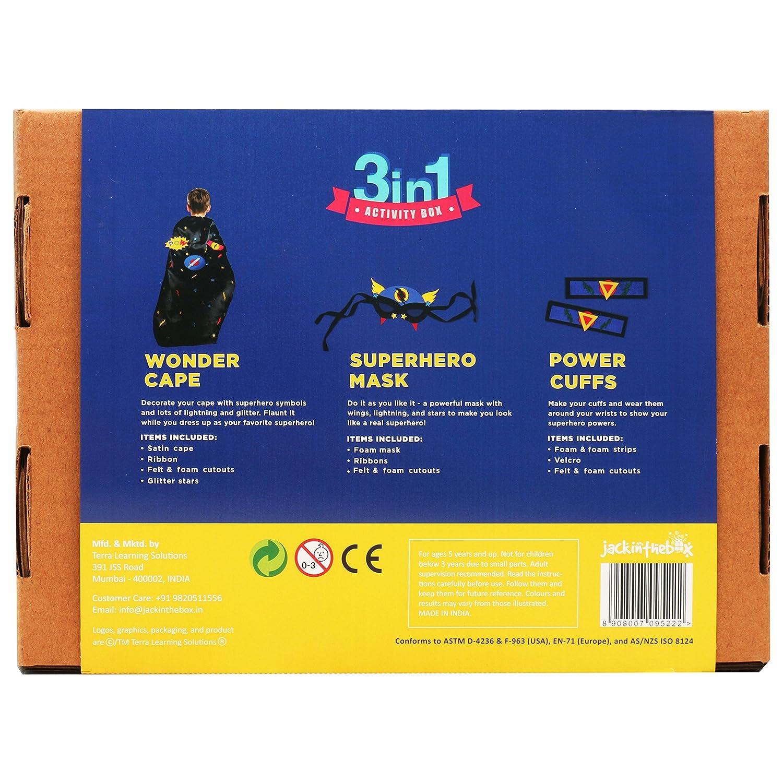 Amazon Art And Craft Costume Kit For Kids Superhero 3 In 1