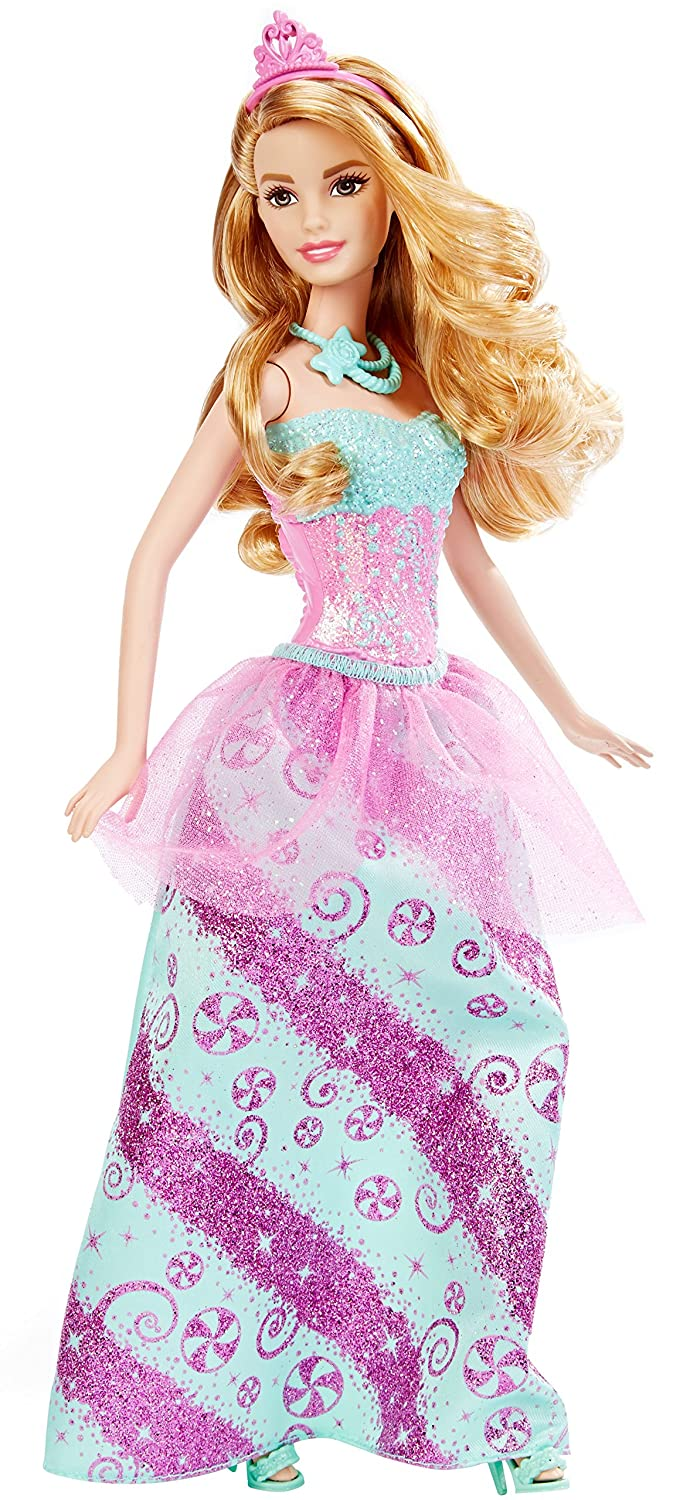 amazon com barbie princess doll candy fashion toys games
