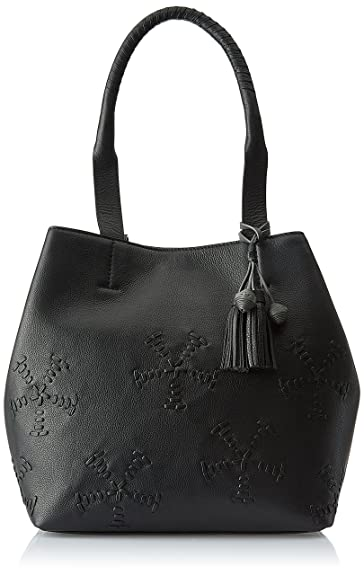 AQUATAN Boho Whipstitch Women's Tote Bag (Black) (AT-L03-02)