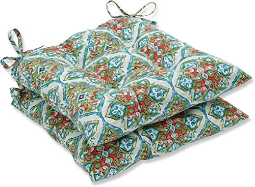 Pillow Perfect Outdoor Indoor Splendor Opal Wrought Iron Seat Cushion, 2 Piece,Multicolored