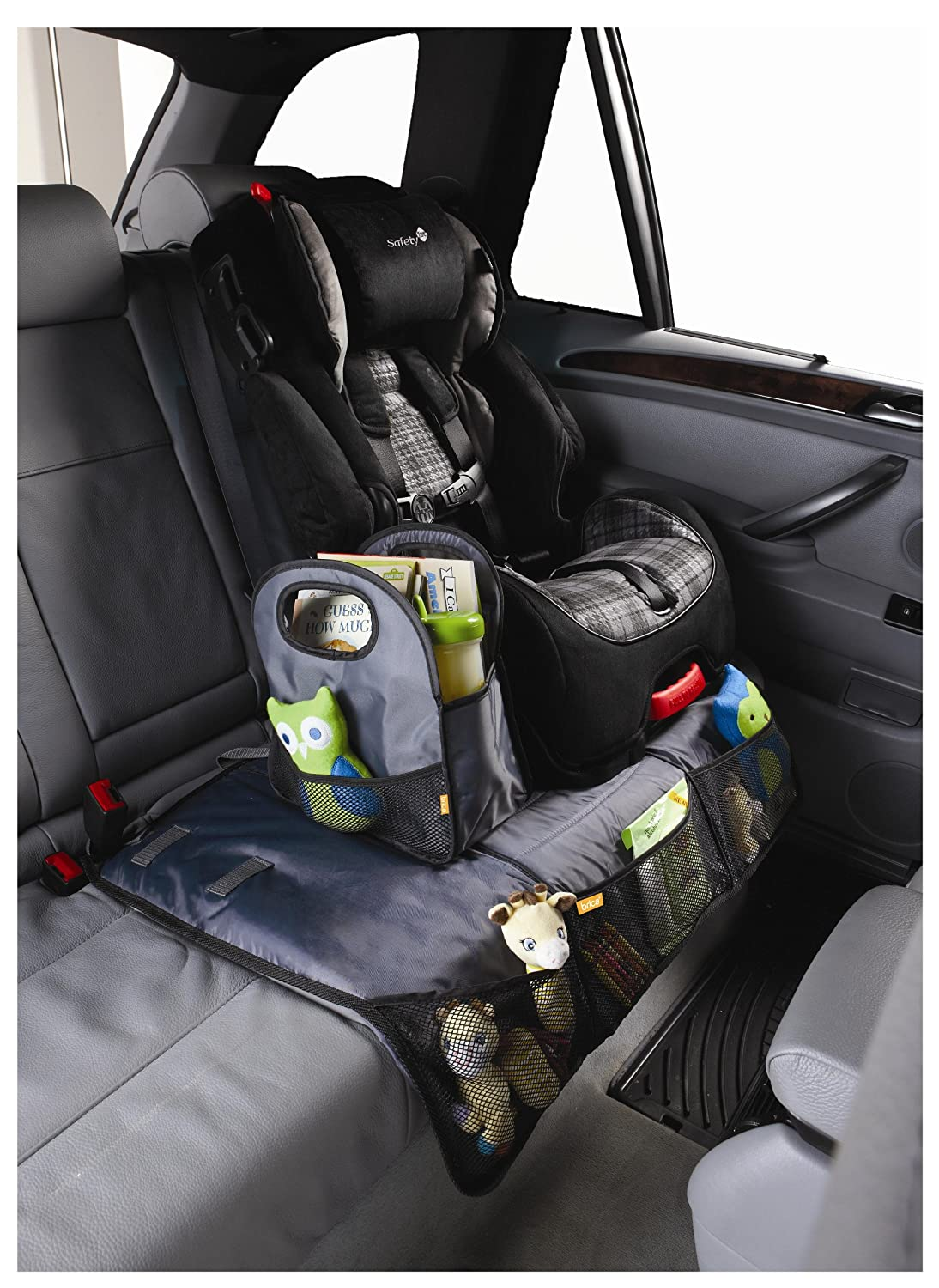 Amazon.com : Brica Back Seat Storage with Seat Protector, Gray ...