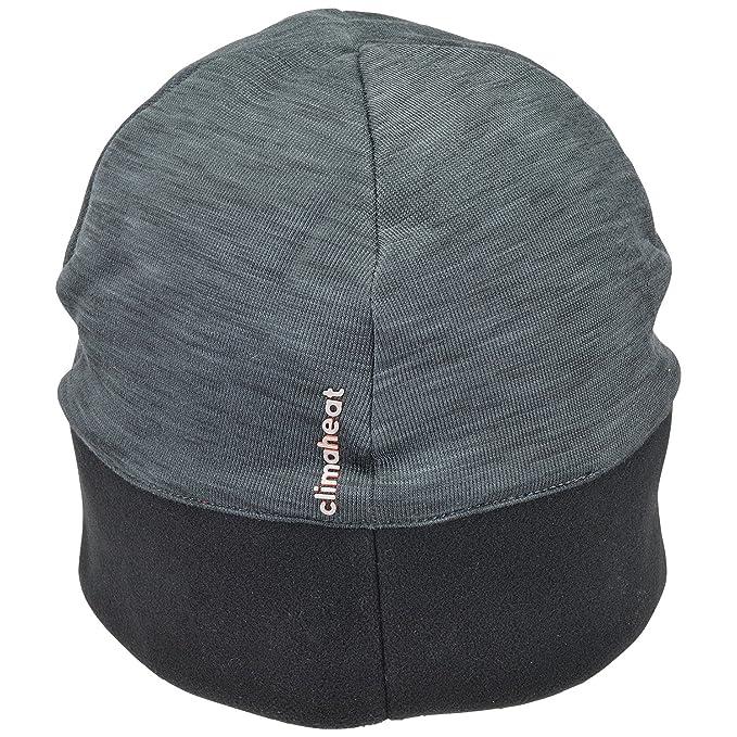 c5ffb337c08 adidas Men s Running Climaheat Beanie - Heat Dark Grey Melange Black Reflective  Silver