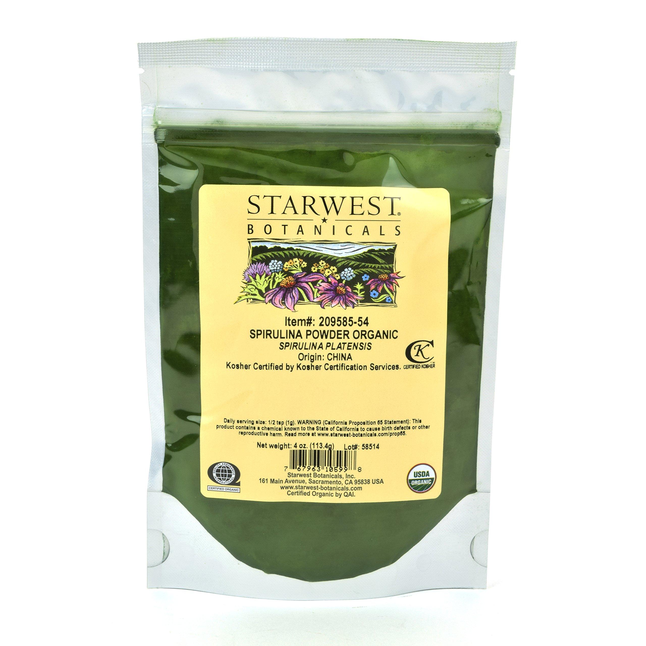 Starwest Botanicals Organic Spirulina Powder, 4 Ounces