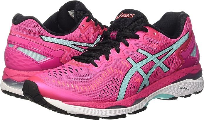 Asics Gel-Kayano 23 W, Zapatillas de Running para Mujer, Multicolor (Sport Pink/Aruba Blue/Flash Coral), 36 EU: Amazon.es: Zapatos y complementos
