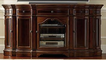 Hooker Furniture 5139 55496 Entertainment 74u0027u0027 Console, Dark Cherry
