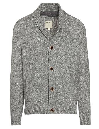 f4642429d58d Life After Denim Men's Long Sleeve Oak Park Wool Blend Shawl Collar Cardigan,  Heather Grey, Extra Large at Amazon Men's Clothing store: