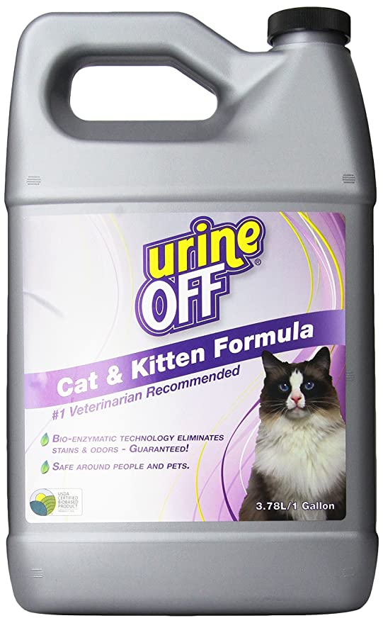Orina Off Olor y quitamanchas para Gatos, 1 Gallon: Amazon ...