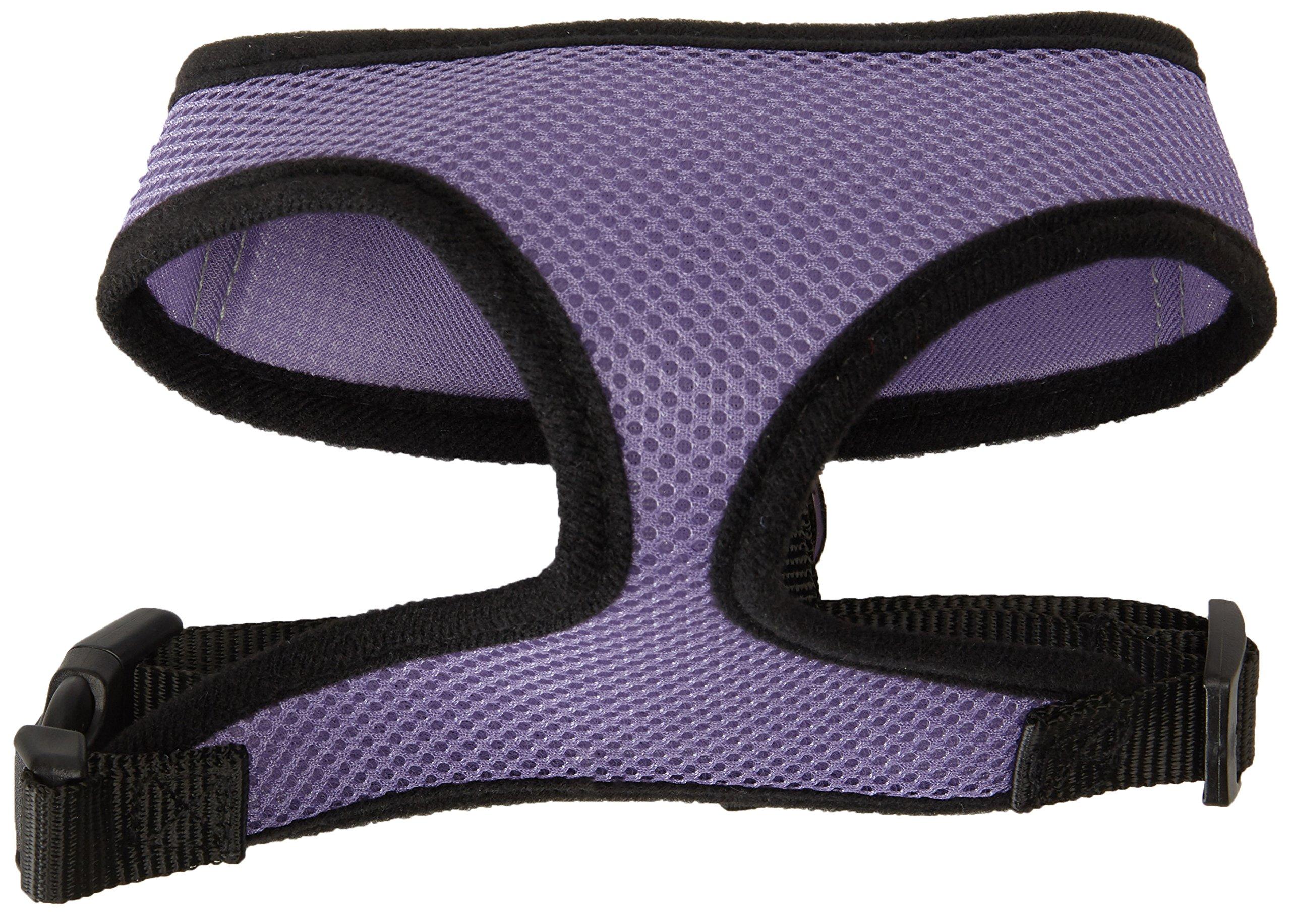 OxGord Pet Control Harness for Dog & Cat Easy Soft Walking Collar, Medium, Purple
