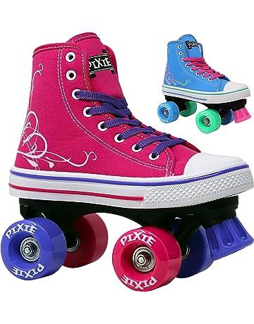54d1656593f Lenexa Roller Skates for Girls Pixie Kid s Quad Roller Skates with High Top  Shoe Style for