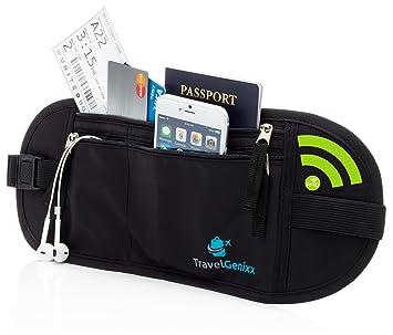 Cartera Cinturón de seguridad para llevar billetes, pasaporte, dinero, creditcards
