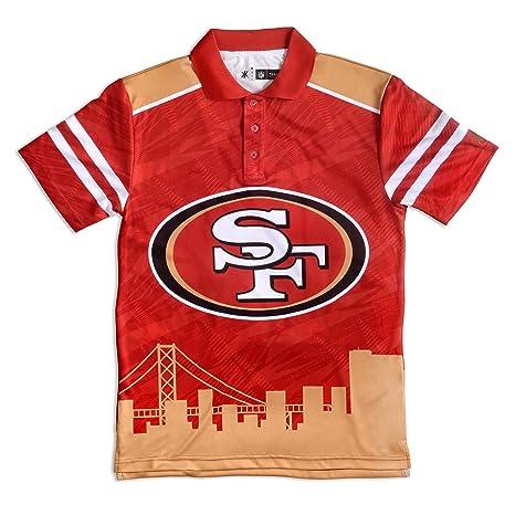 14a0e11abd6c1 San Francisco 49ers Polyester Short Sleeve Thematic Polo Shirt Medium