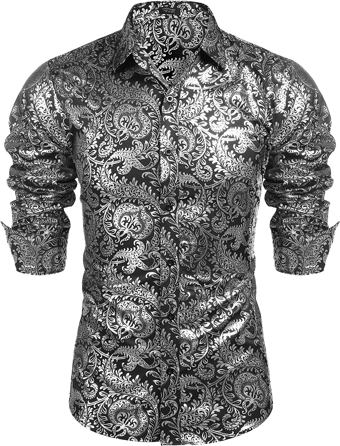 COOFANDY Men's Luxury Design Shirts Floral Dress Shirt Casual Button Down  Shirts at Amazon Men's Clothing store
