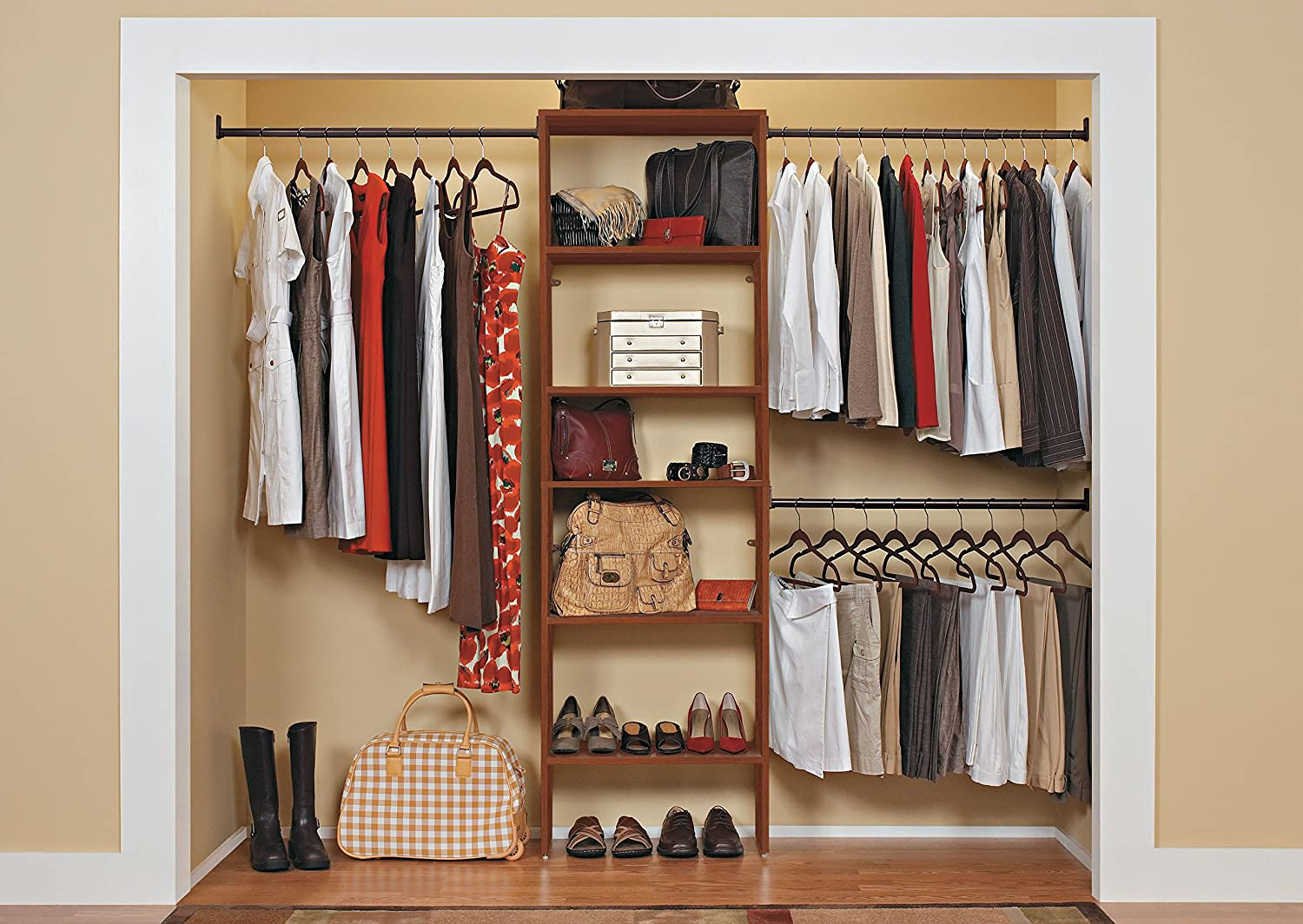 Amazon.com: ClosetMaid 8895 SuiteSymphony 25 Inch Starter Tower Kit,  Cherry: Home U0026 Kitchen