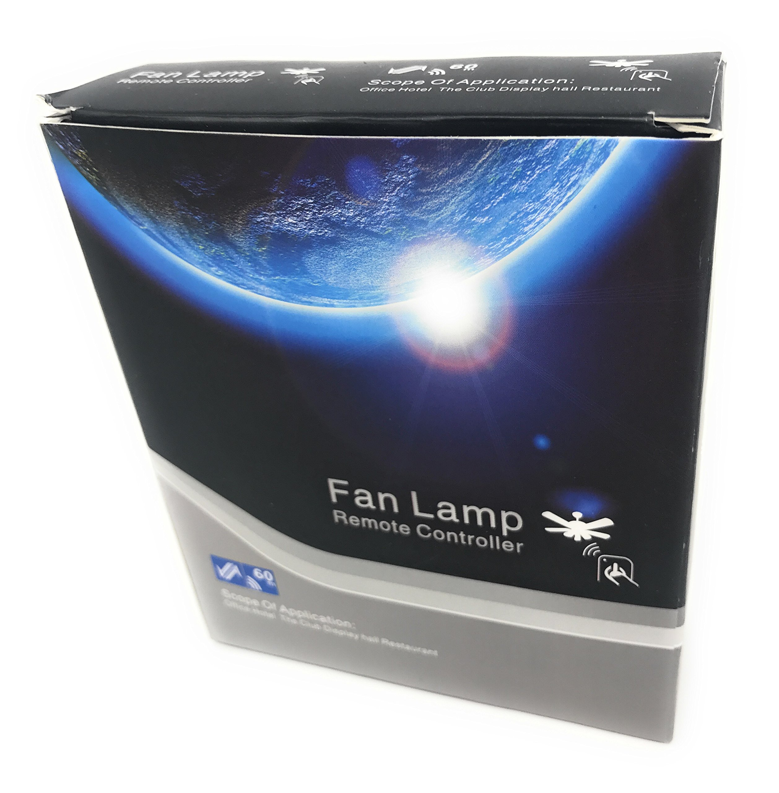 Universal Remote Control Ceiling Fan Lamp Easy Install Office, Hotel, Club Restaurant