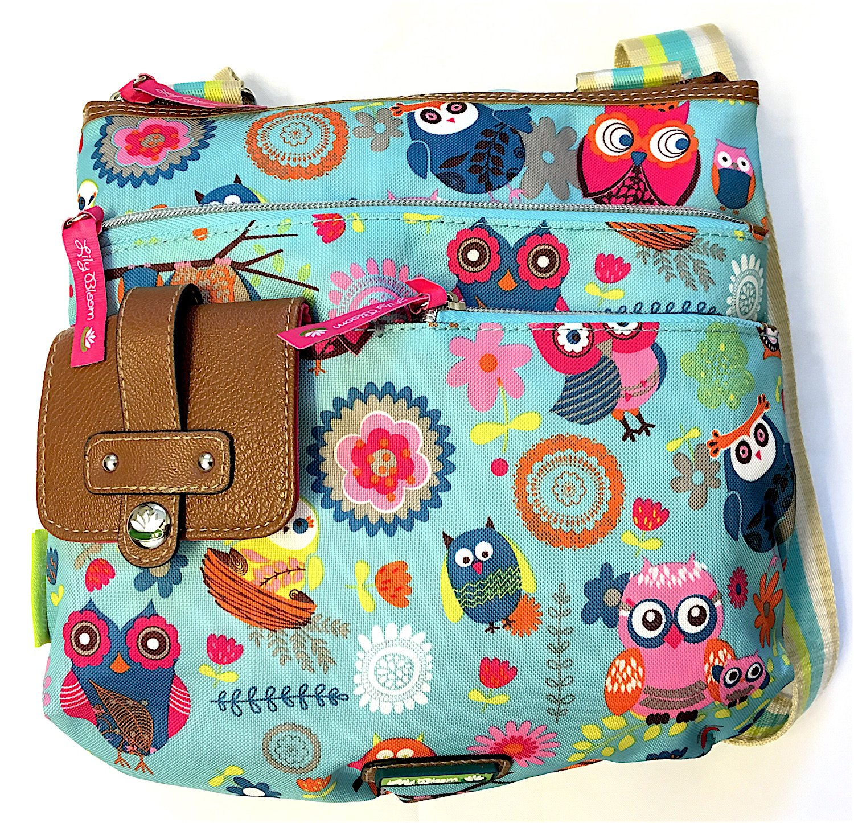 Lily Bloom Camilla Crossbody Bag in Owl Always Love You Pattern