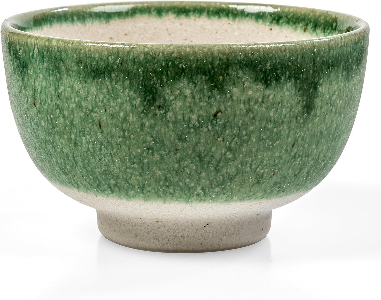 pour thé vert Luxe Oil-effet japonais Matcha bol Chawan fait main au Japon