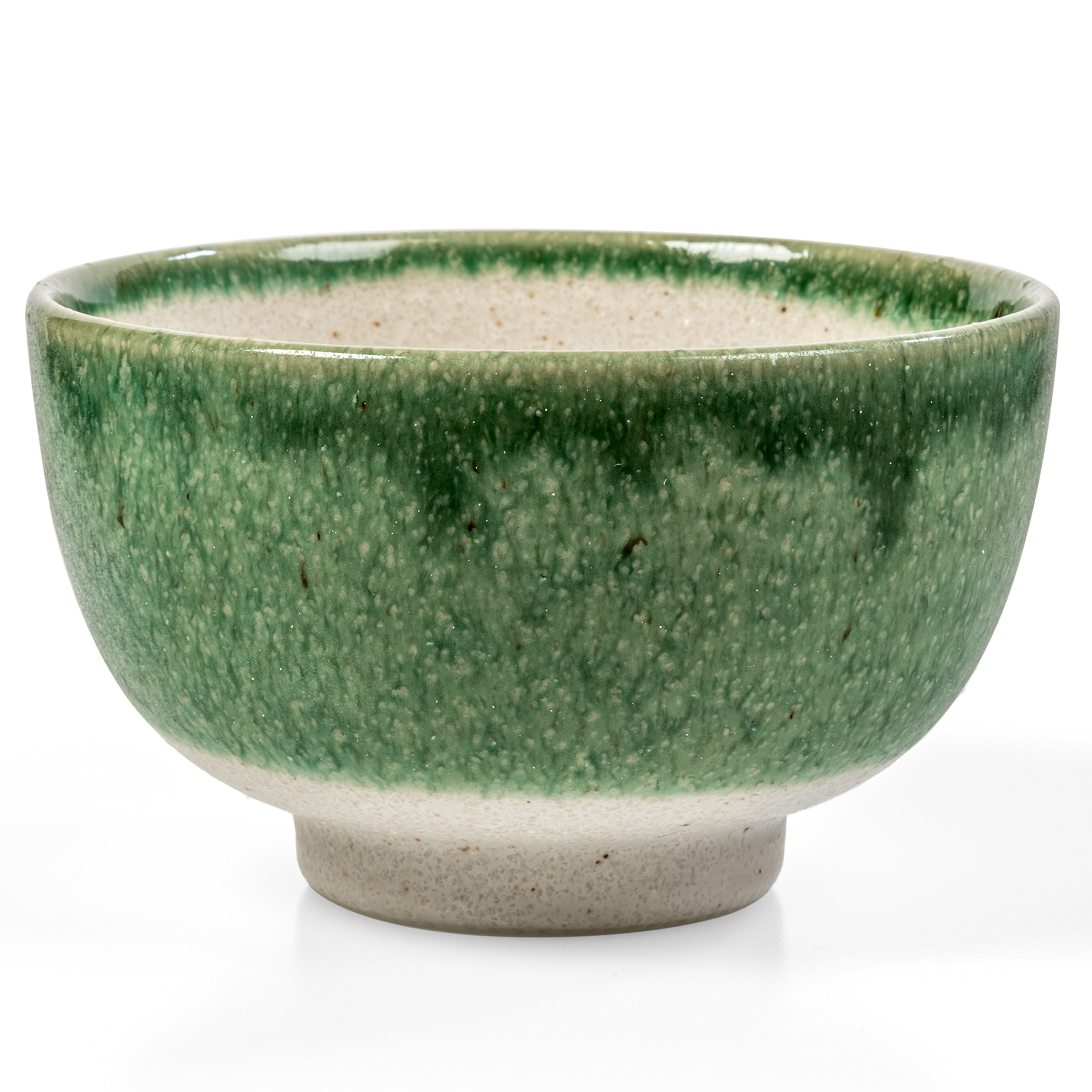 Tealyra - Matcha Bowl - Authentic Ceramic Made in Japan - Chawan from Japanese Master-Craft - Matcha Tea Cup Ceremony Use - Green