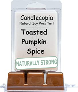 product image for Candlecopia Toasted Pumpkin Spice Strongly Scented Hand Poured Vegan Wax Melts, 12 Scented Wax Cubes, 6.4 Ounces in 2 x 6-Packs