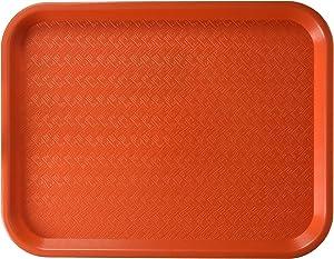 Winco Fast Food Tray, 10 by 14-Inch, Orange,Medium