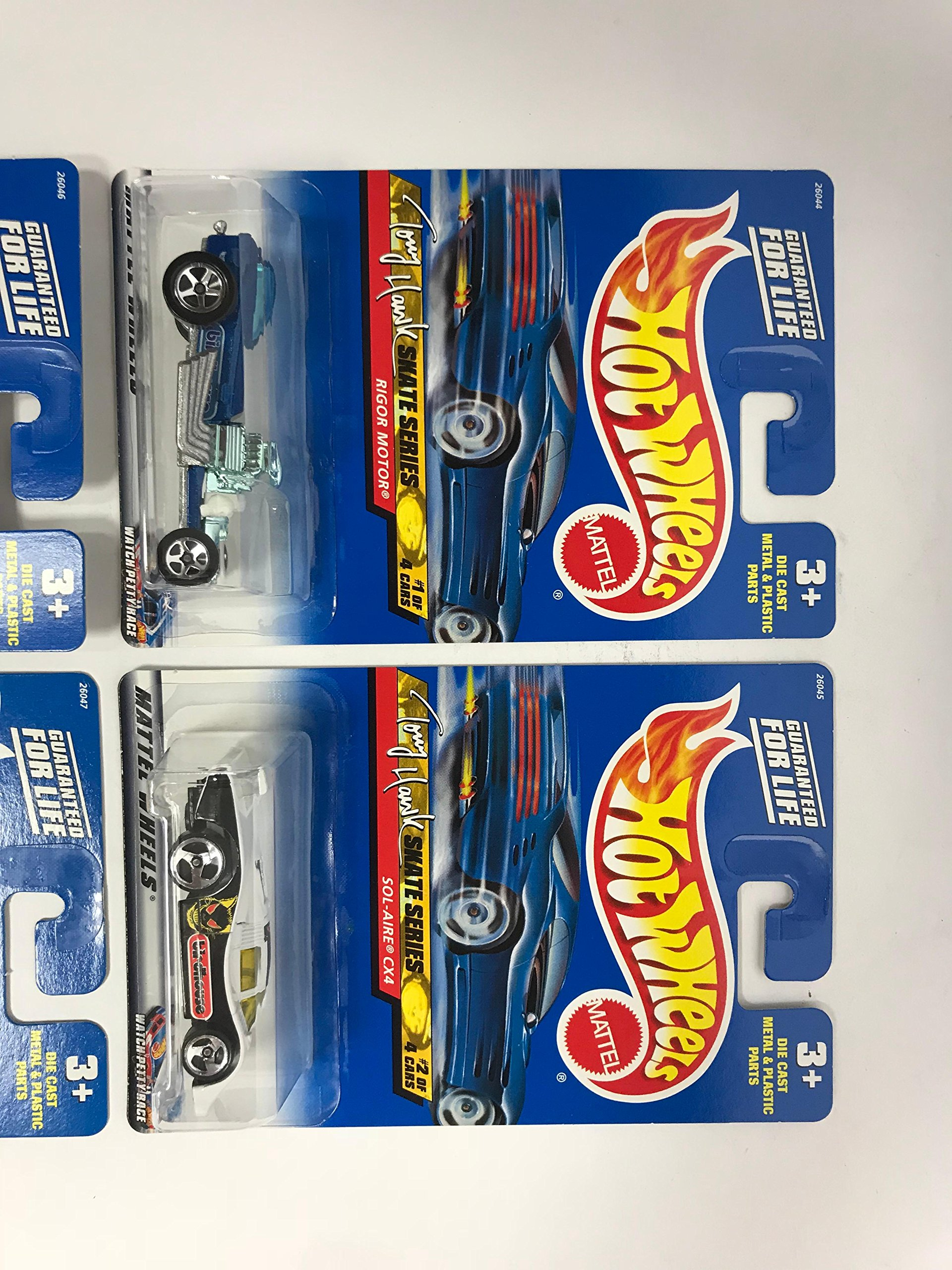 2000 Hot Wheels TONY HAWK SKATE SERIES Complete Set (1 4) with Speed Blaster