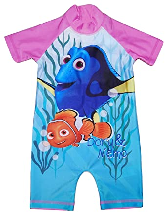 Disney Girls Swimming Costume Swimwear All In One Finding Nemo Dory