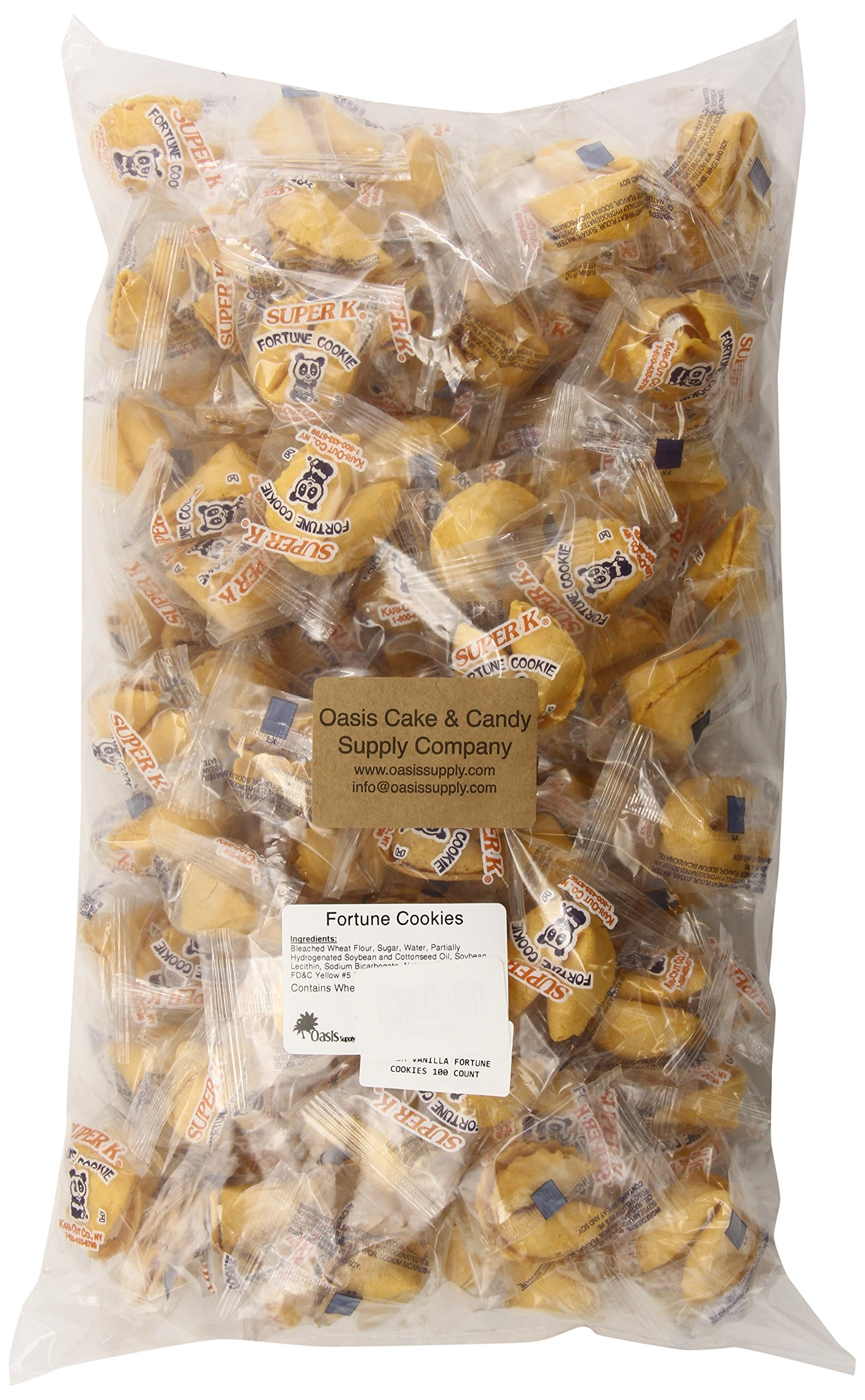 Kari-Out Vanilla Fortune Cookies, 100 Count
