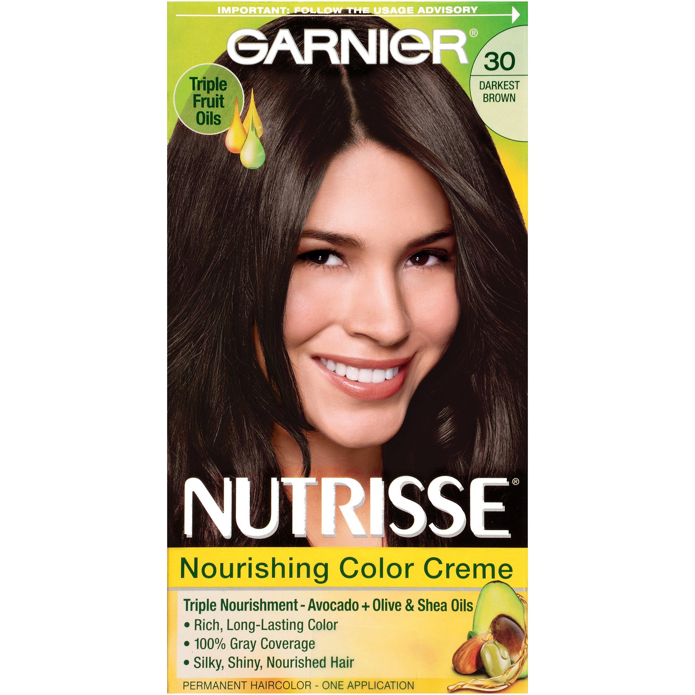 Amazon.com : Garnier Nutrisse Haircolor, R1 Dark Intense ...