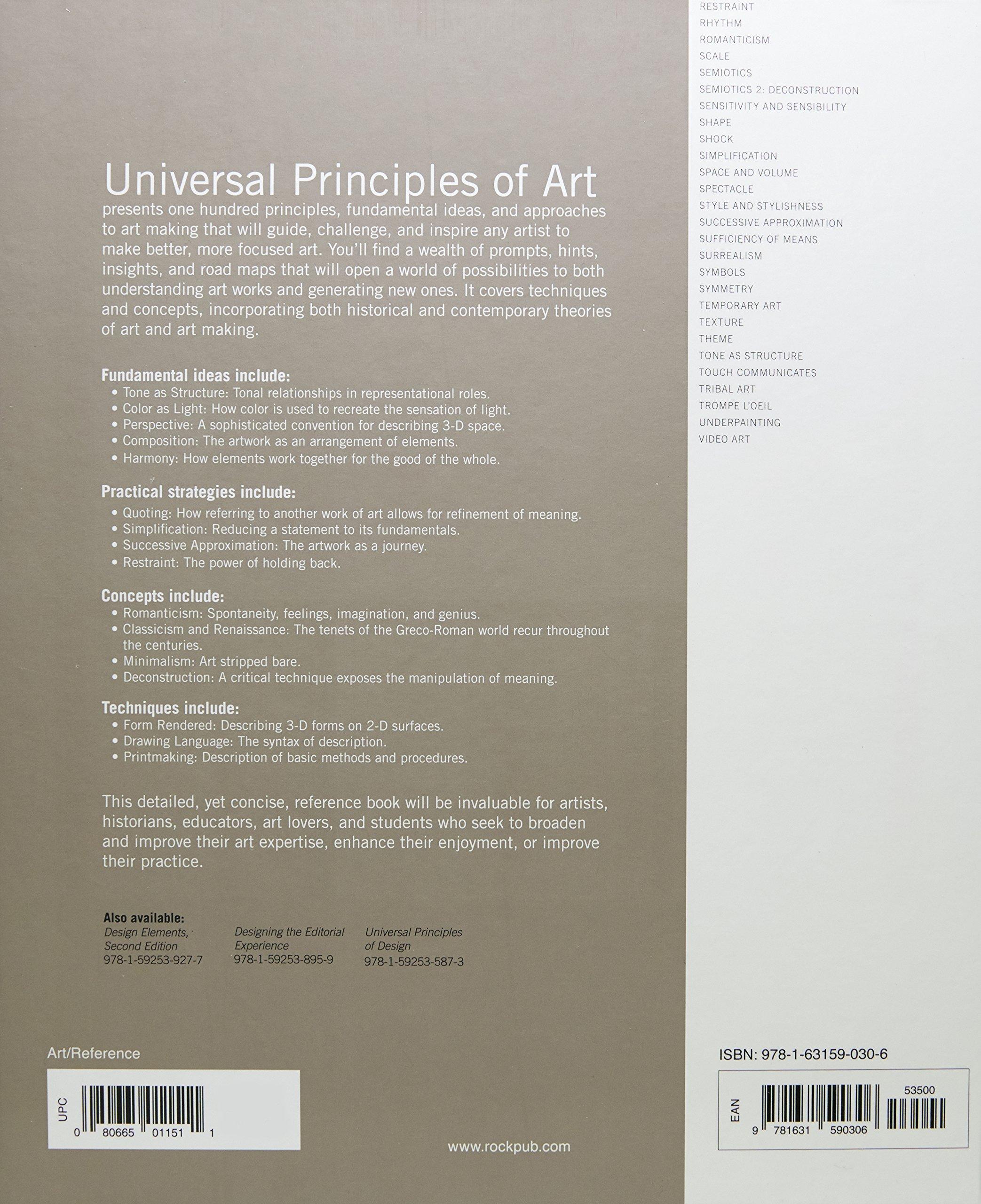universal principles of art 100 key concepts for understanding