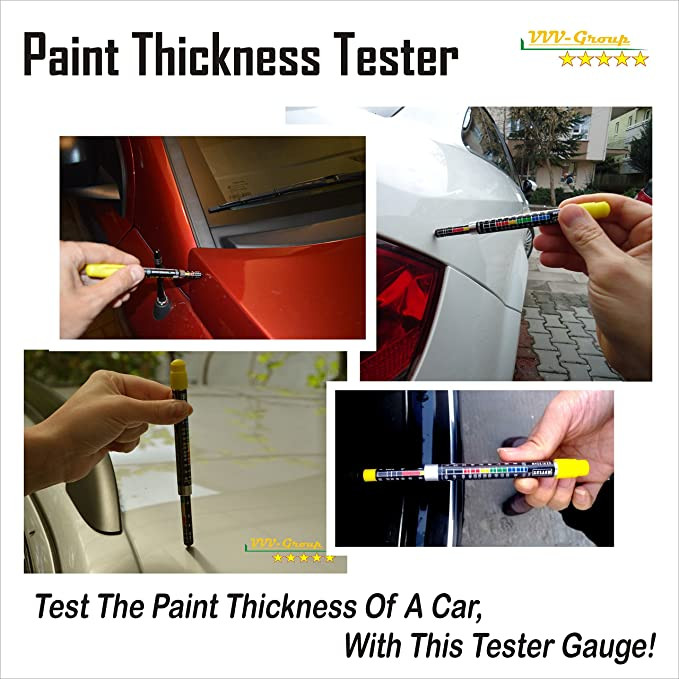 Paint Thickness Meter Gauge-Car Body Damage Detector 3003 LacquerTester-US Sell