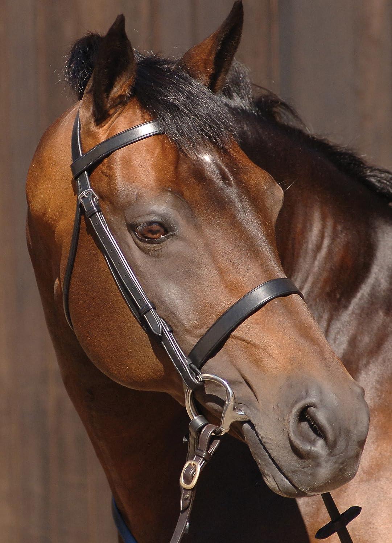 Caldene Plain with Plain Reins Snaffle Bridle Small Pony Havana