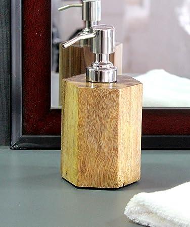 KLEO Seife/Lotion Spender aus indischem Holz – Luxus Badezimmer ...