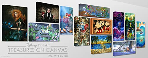 Disney Fine Art The Magic Wishing Apple 12″ x 16″ Treasures on Canvas Snow White The Evil Queen Gallery Wrapped Canvas Wall Art