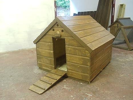 De madera casa de pato, 100 x 100 x 85: Amazon.es: Productos para ...