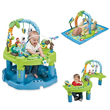 392d997a3 Amazon.com   Evenflo ExerSaucer Triple Fun - Jungle (Discontinued by ...