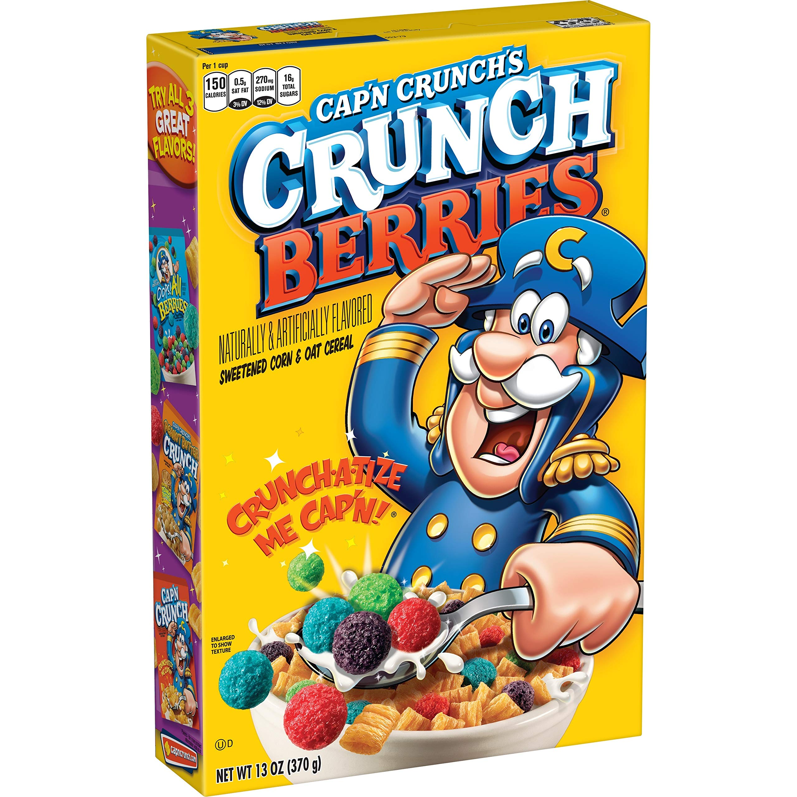 Cap'N Crunch Cereal, Crunchberries, 13oz