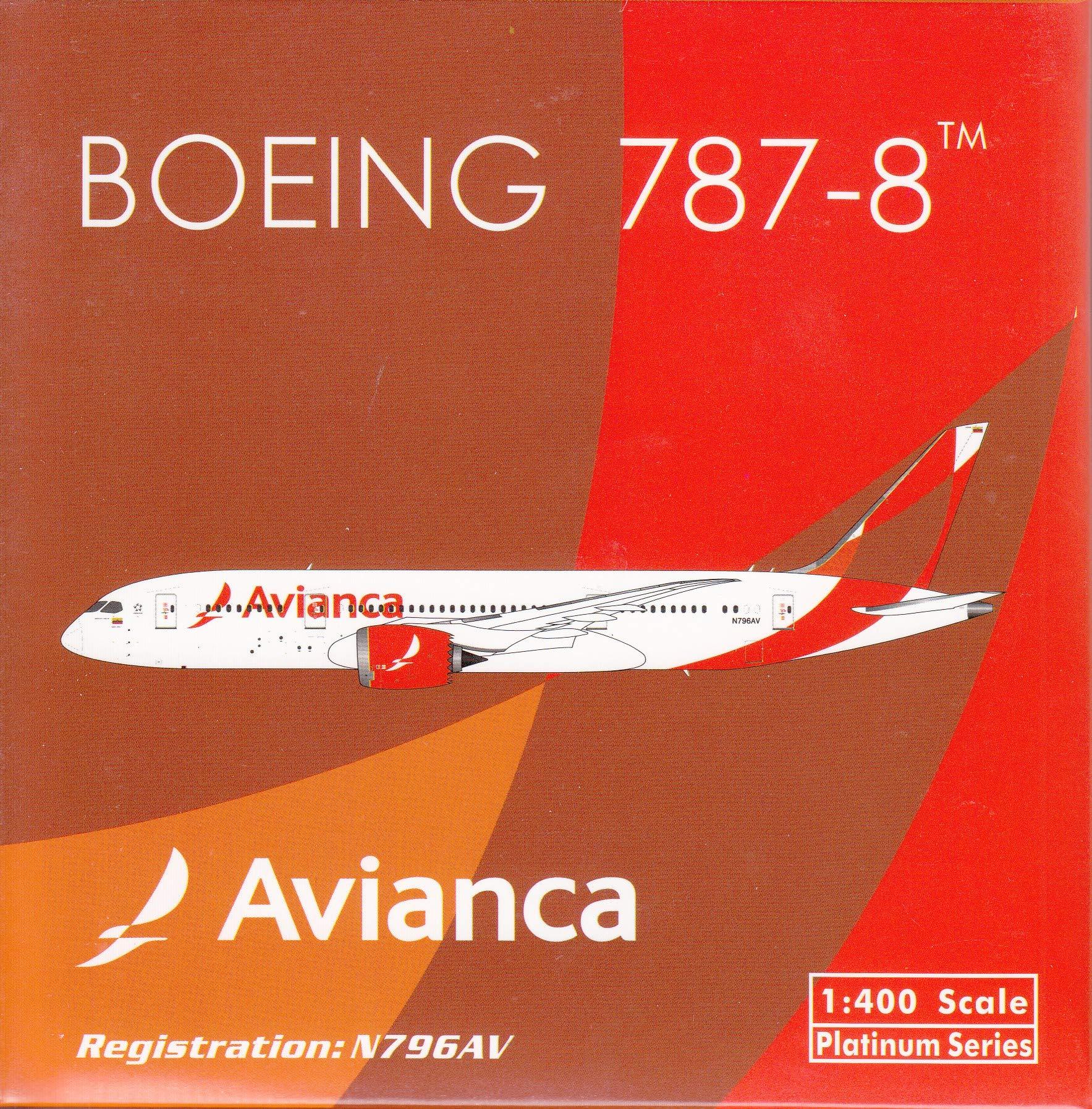 Phoenix Model PHX11505 1:400 Avianca Boeing 787-8 Reg #N796AV (pre-Painted/pre-Built)