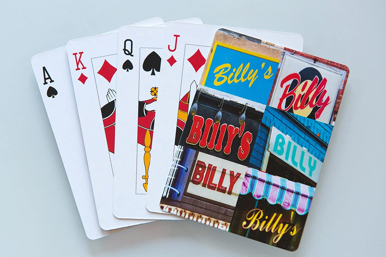 featuring photos of actual signs SignYourName PC-BILLYX BILLY Personalized Playing Cards