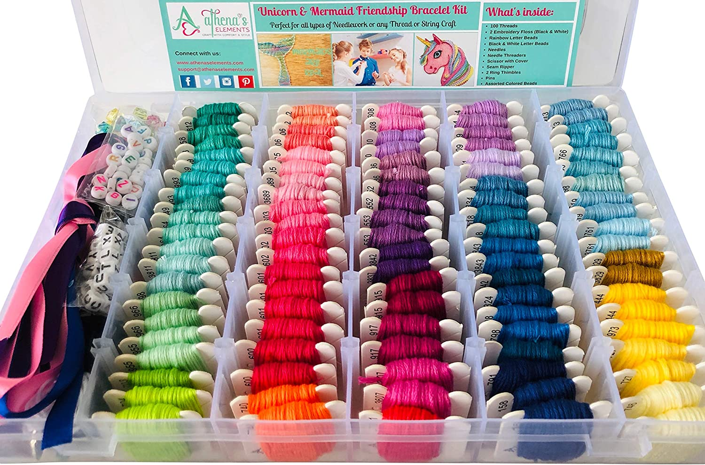 2 Item Bundle of My 1st Cross Stitch Kits Unicorn and Mermaid