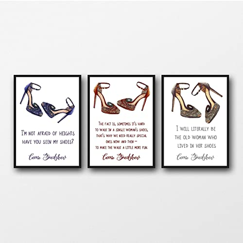 Amazon Set Of 60 Carrie Bradshaw Sex And The City Shoe Quotes Magnificent Fex Quotes