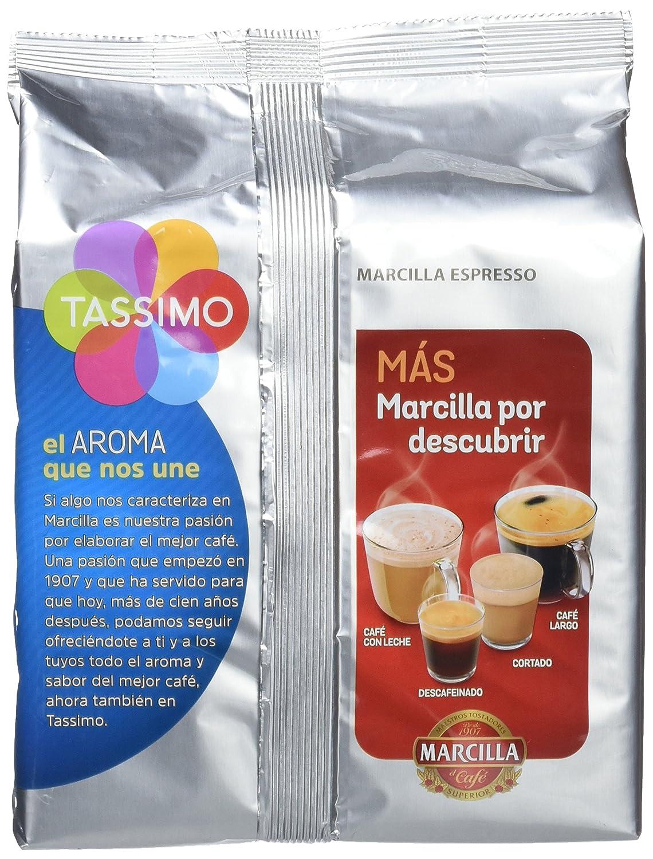 Tassimo Marcilla Descafeinado, Pack de 5 x 118.4 g: Amazon.es: Alimentación y bebidas