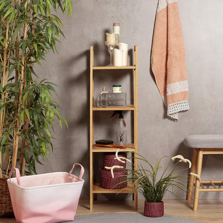 Habita Home ESTANTERIA DE Bambu 4 Niveles 30x30x104, 5cm Color BAMBÚ 5cm Color BAMBÚ