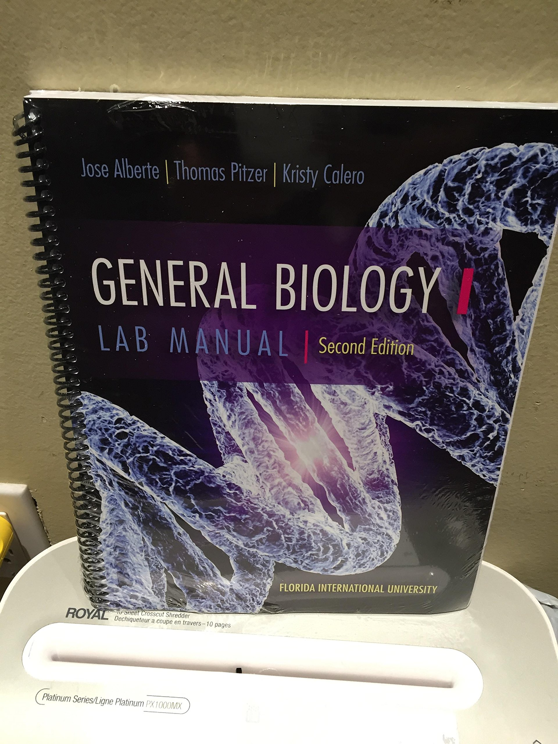 General Biology 1 Lab Manual Second Edition: Jose Alberte, Thomas Pitzer,  Kristy Calero: 9781259158841: Amazon.com: Books