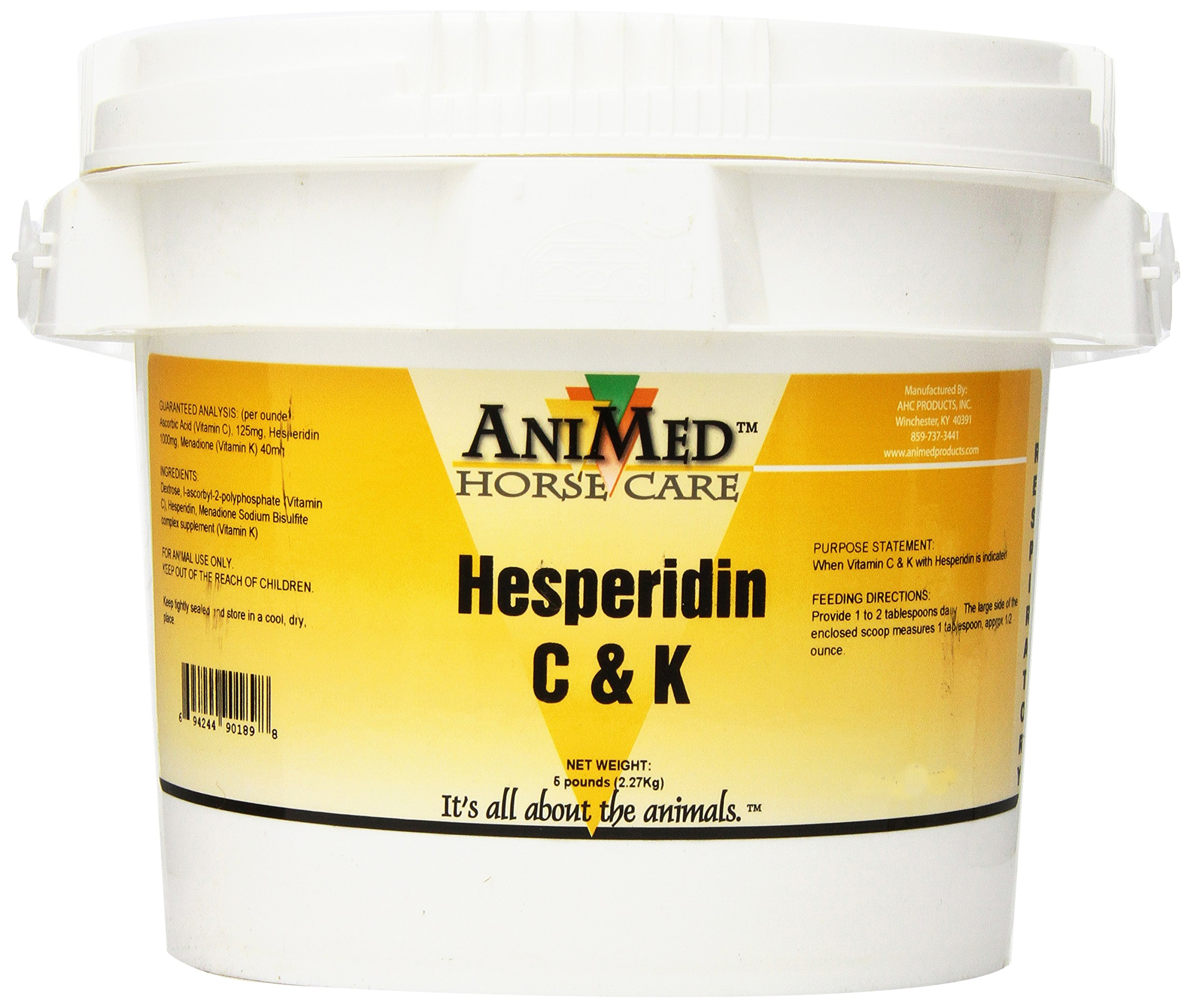 AniMed Vitamin C and K with Hesperidin Supplement for Horses, 5-Pound by AniMed
