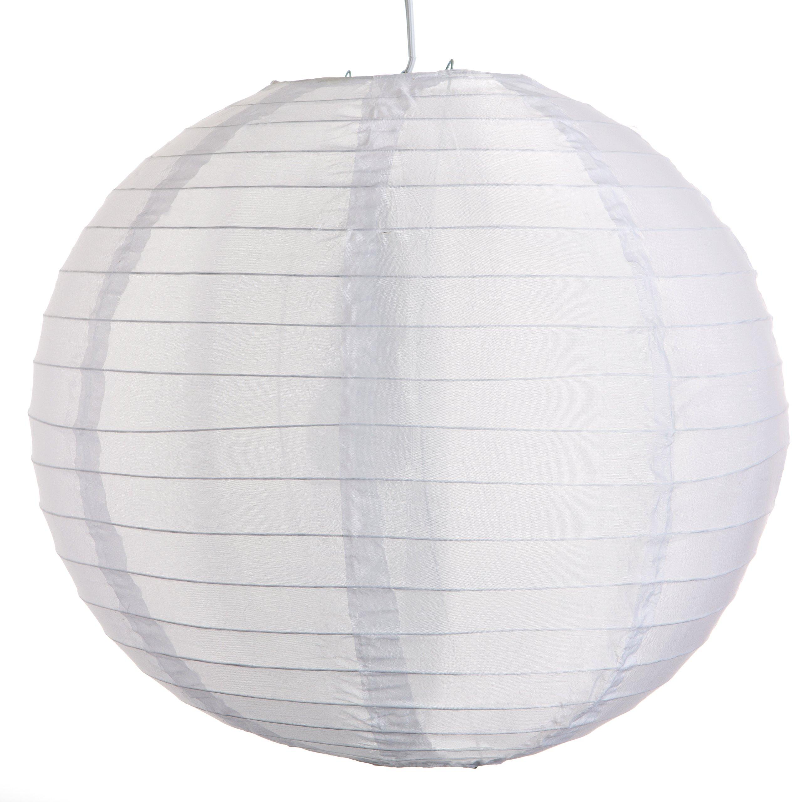 Round Party Wedding Lanterns (16 Inch, White Nylon Waterproof Lanterns) by Hometown Evolution, Inc.