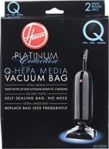 Hoover Paper Bag, Type Q Upright Hepa (Pack of 2)